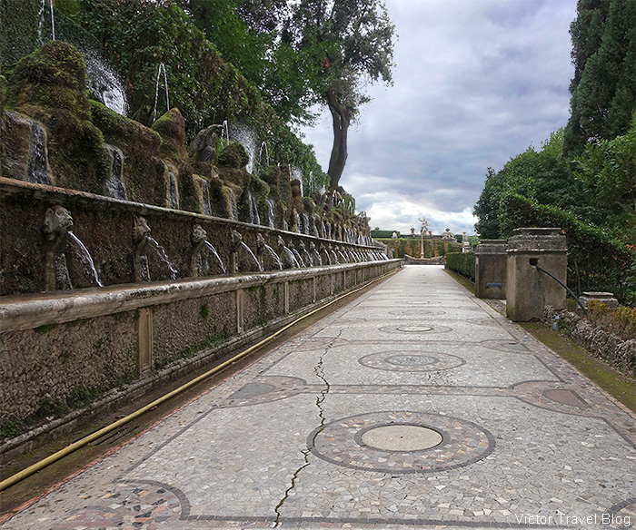 The Avenue of 100 Fountains, Tivoli, Italy.