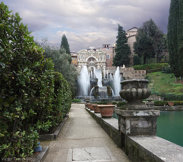 The Neptune Fountain and the Water Organ Fountain, Villa d'Este, Tivoli, Italy.