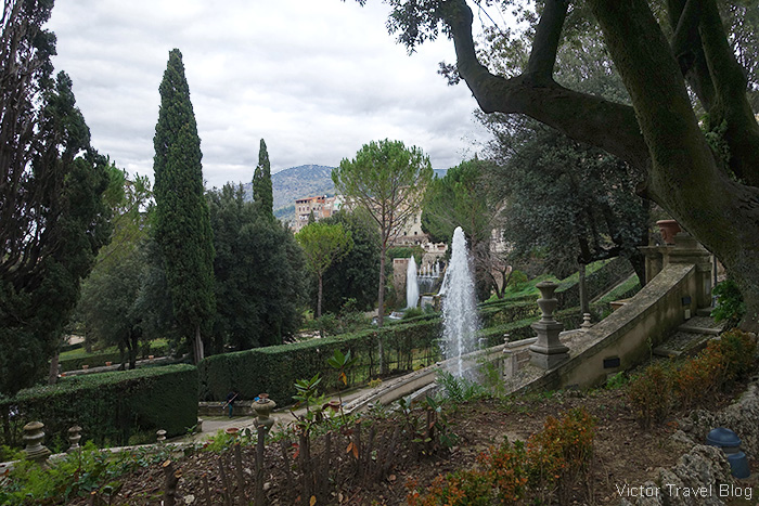The park of the Villa d'Este, Tivoli, Italy.
