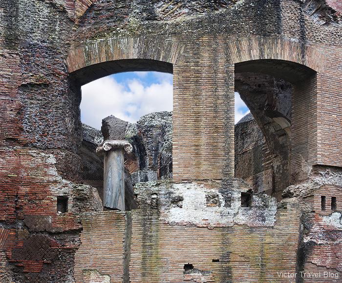 Ruins of Hadrians Villa, Tivoli, Italy.