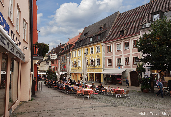 The town of Fuessen, Bavaria, Germany.