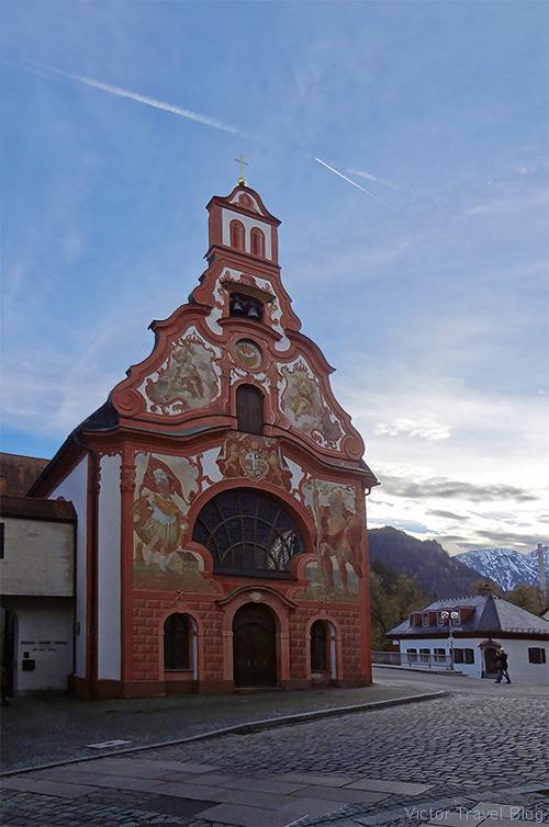 Heilig-Geist-Spitalkirche, Fuessen, Bavaria, Germany.