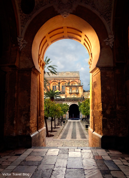 A patio of the Mezquita de Cordoba, Spain.