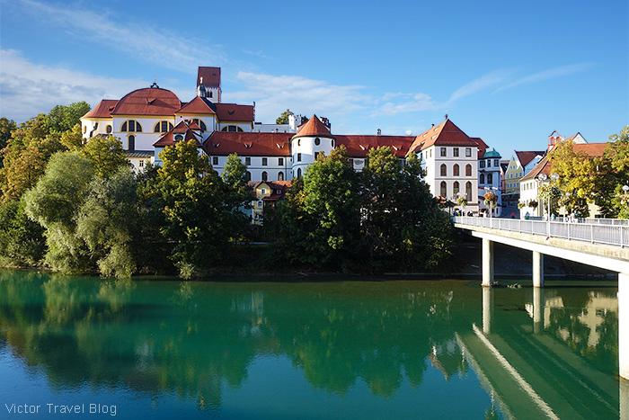 St. Mang Abbey, Fuessen, Bavaria, Germany.