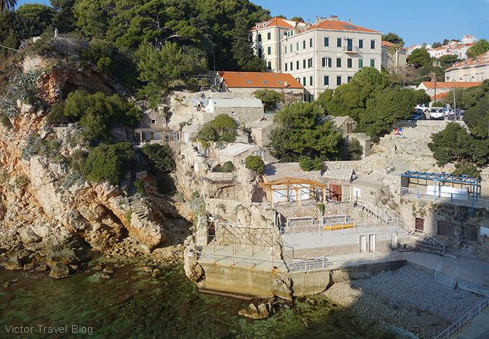 A city beach. Dubrovnik, Croatia.