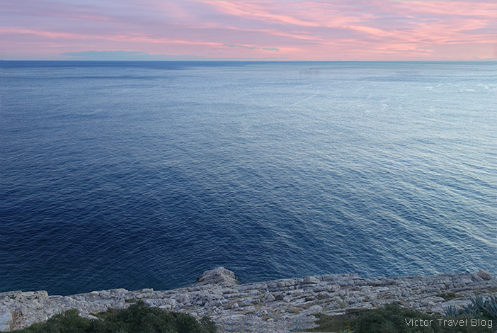A seaview from the Kate Place, Dubrovnik, Croatia.