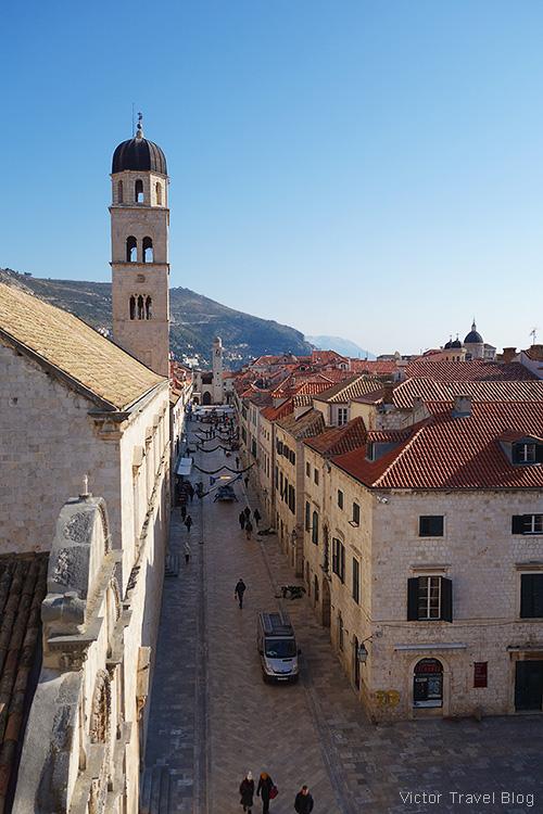 The street of Stradun, Dubrovnik, Croatia.