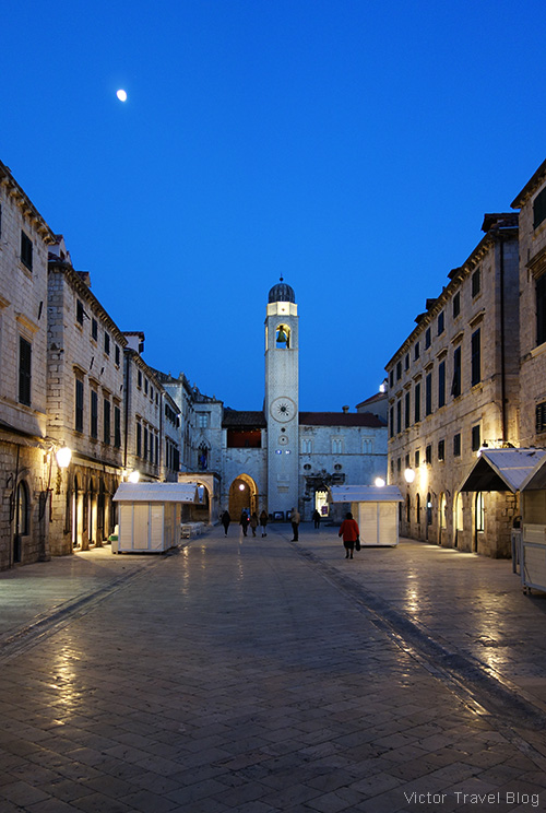 The street of Stradun, Dubrovnik, Croatia.