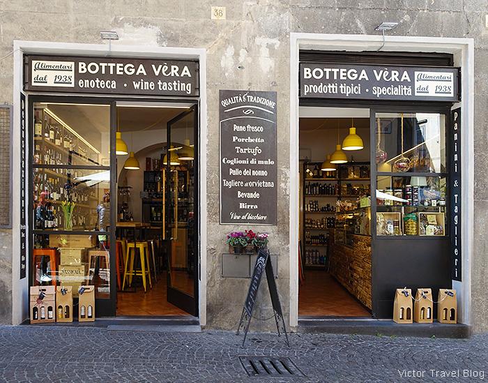 Botega vera, Enoteca, Orvieto, Italy.