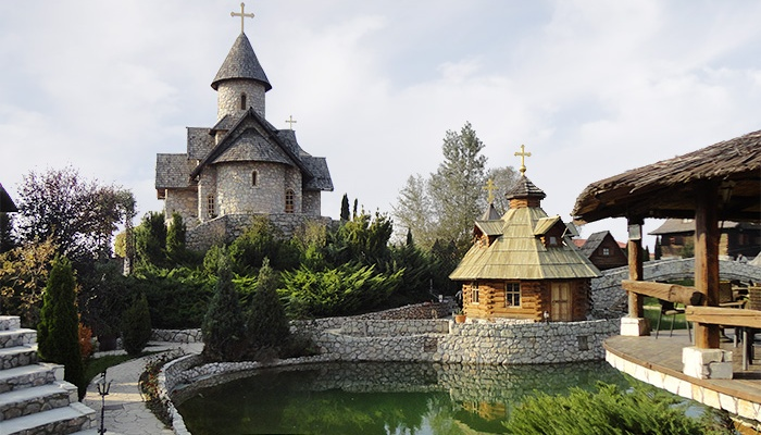 The Monastery of the Holy Father Nicholas. The traditional village of Stanisici, Bosnia.