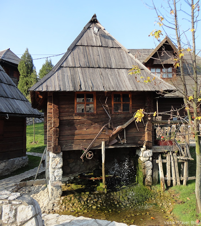 A smaller mill built in 1917. The traditional village of Stanisici, Bosnia.