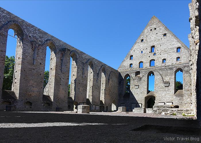 A church. Pirita Convent Ruins Park, Tallinn, Estonia.