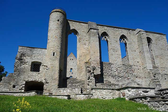 Pirita Convent Ruins Park, Tallinn, Estonia.