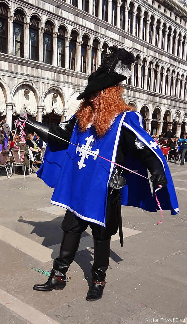 A traditional mask of the Venetian Carnival.
