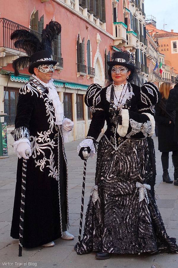 Venetian Carnival masks. Venice, Italy.