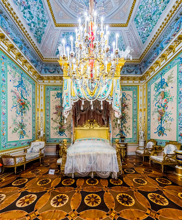 The State Bedroom. The Pavlovsk Palace, Pavlovsk, Russia.