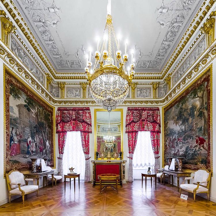 The Carpet Study. The Pavlovsk Palace, Pavlovsk, Russia.
