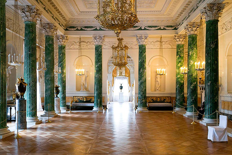 The Greek Hall of the Pavlovsk Palace, Pavlovsk, Russia.