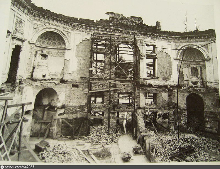 The Italian Hall after the Nazis in 1944. Pavlovsk, Russia.