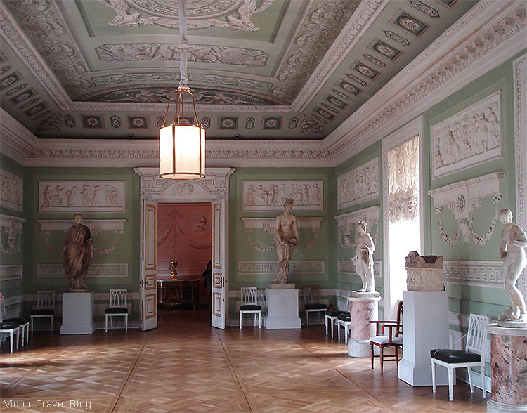 The Knights Room today. The Pavlovsk Palace, Pavlovsk, Russia.