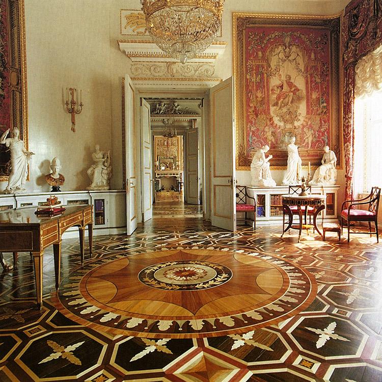 The Library of Maria Feodorovna. The Pavlovsk Palace, Pavlovsk, Russia.