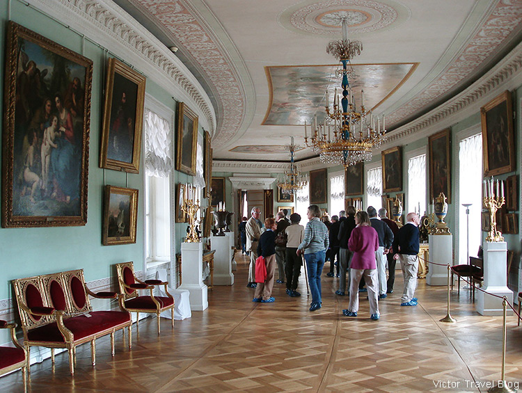 The Pavlovsk Palace today. Pavlovsk, Russia.