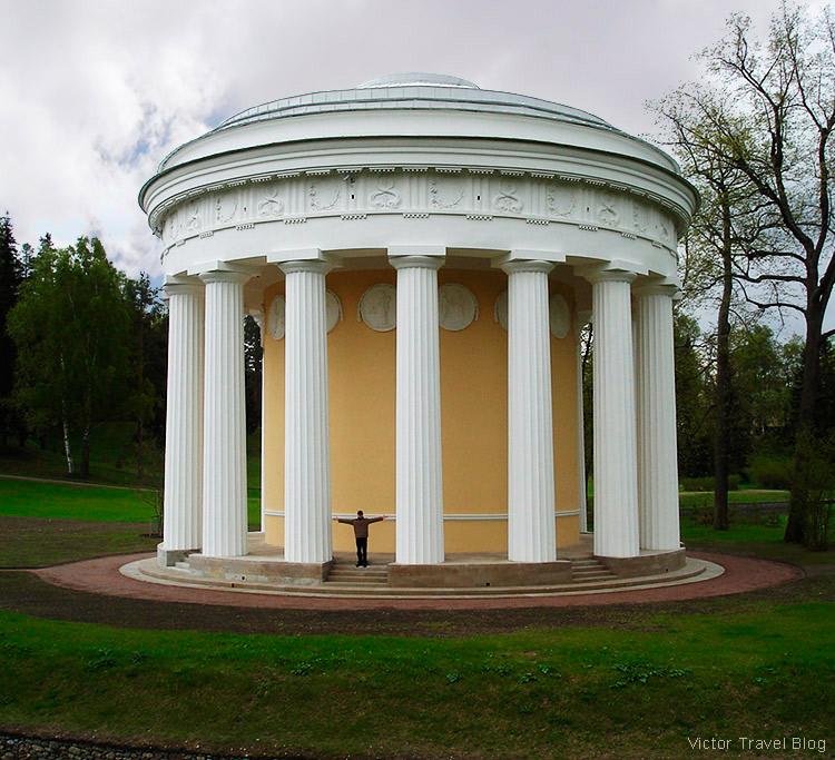 The Temple of Friendship Pavilion, the Pavlovsk Park, Russia.