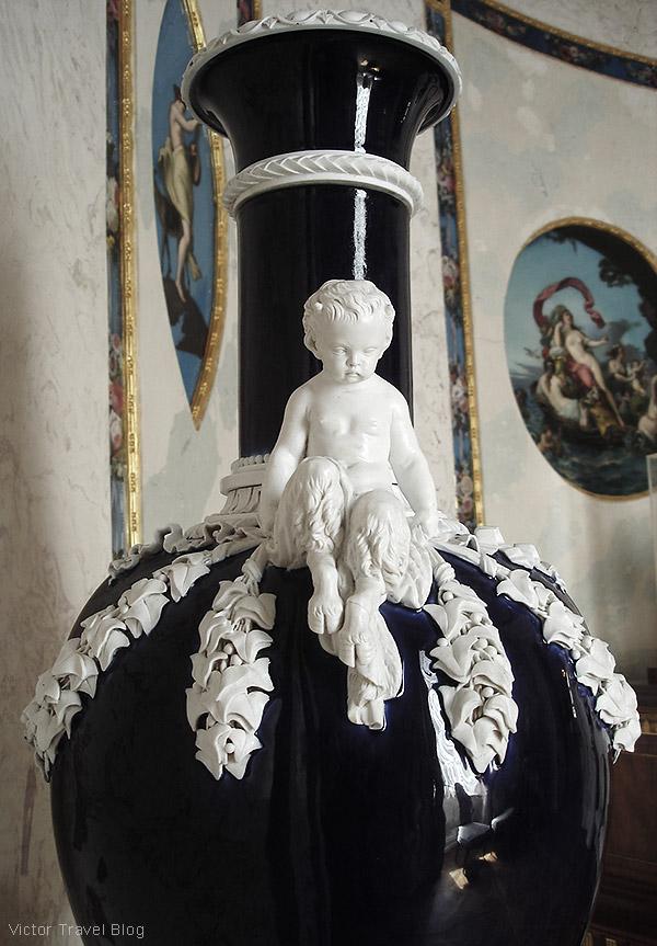 A vase. The Pavlovsk Palace, Pavlovsk, Russia.