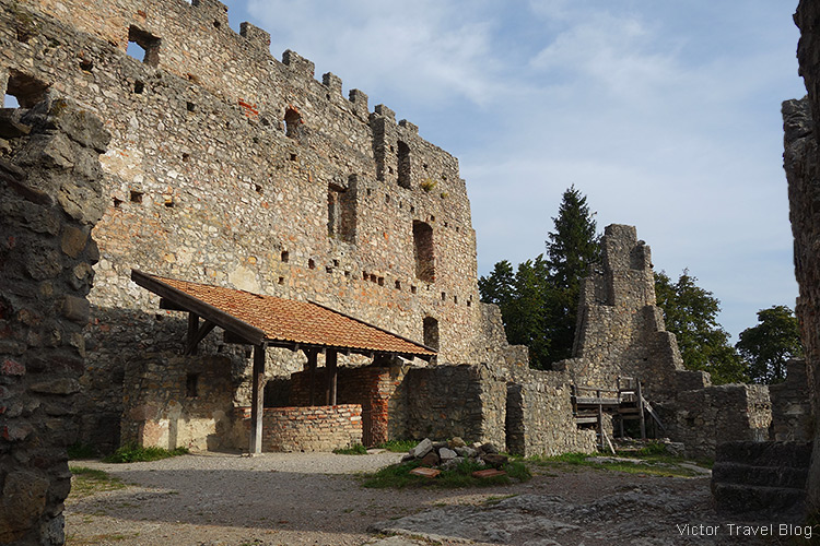 Ruins of the castle of Eisenberg, Germany.