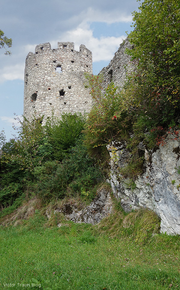 Castle ruins of Hohenfreyberg, Bavaria.