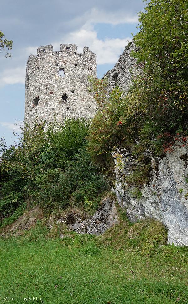 Castle ruins of Hohenfreyberg, Bavaria.