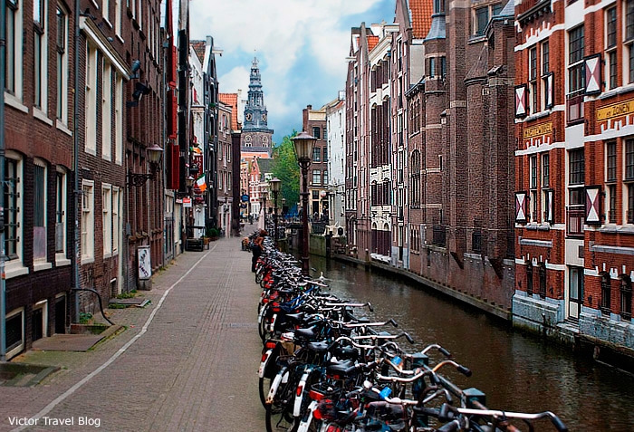 A street of Amsterdam, the Netherlands.