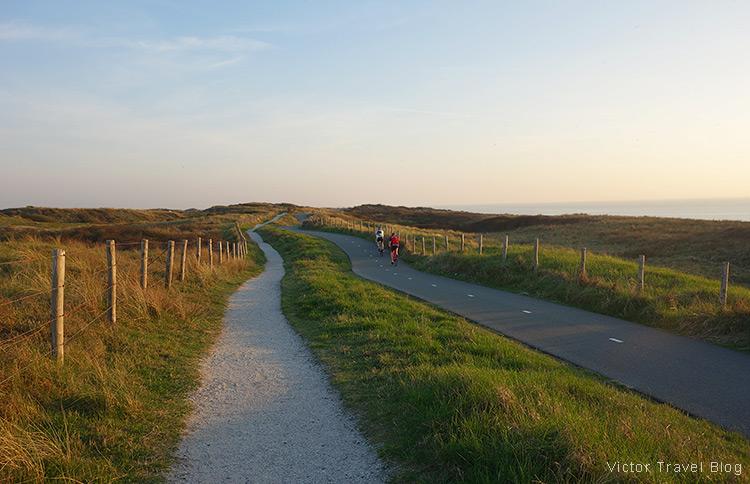 A promenade between Katwijk aan See end Noordwijk, the Netherlands.