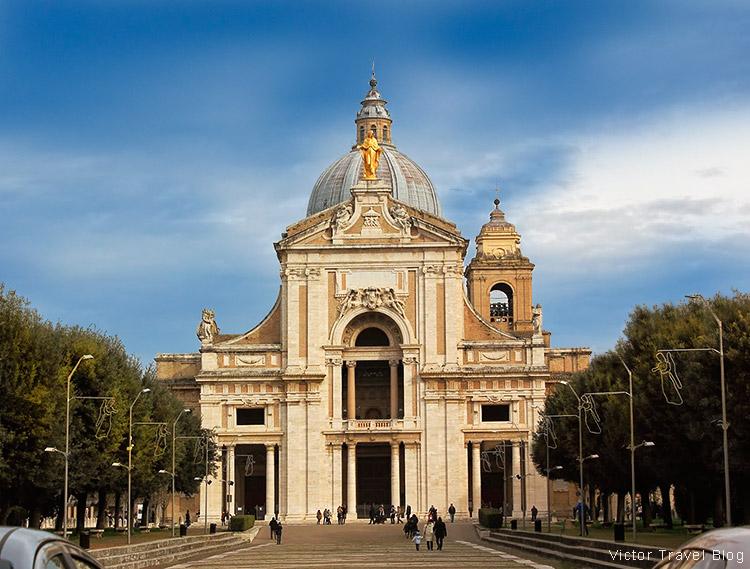 The Basilica di Santa Maria degli Angeli, Assisi, Perugia, Italy.