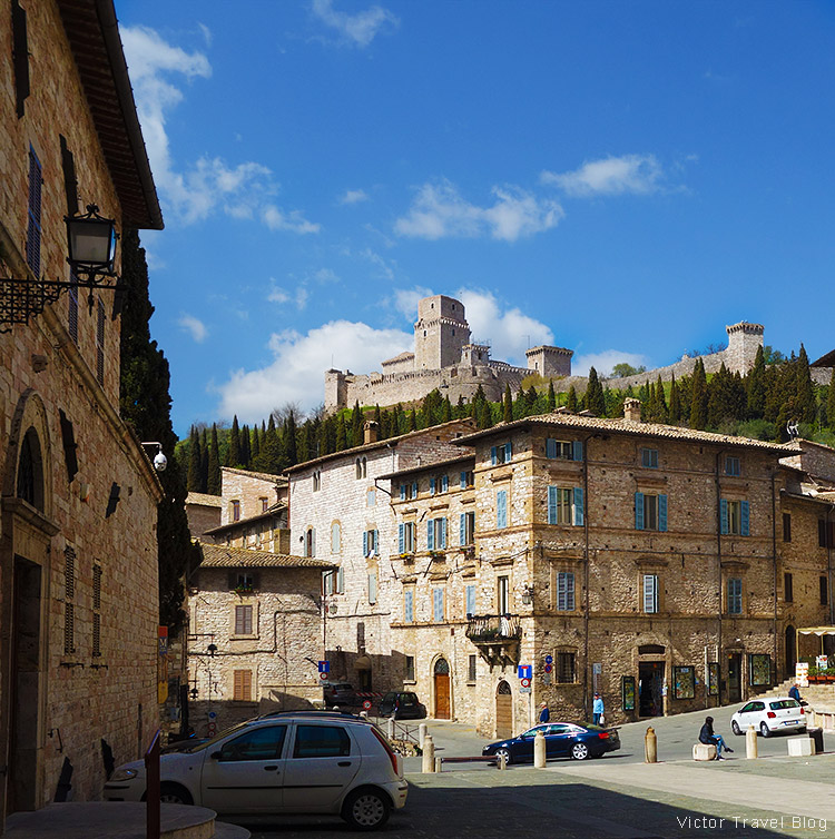Streets of Assisi, Perugia, Italy.