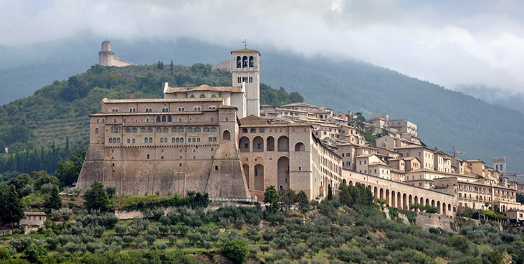 The city of Assisi, Perugia, Italy.