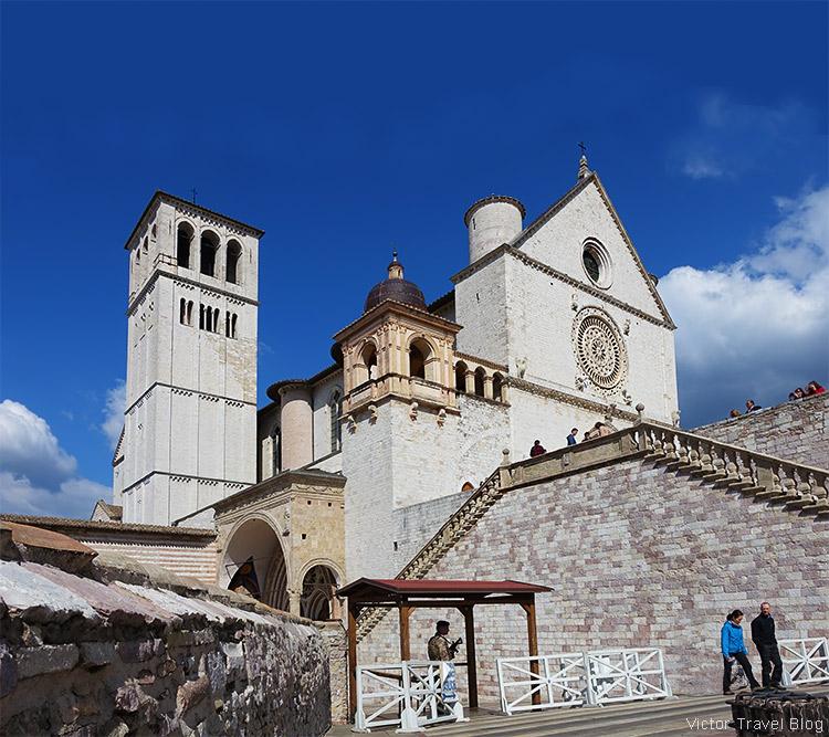 The Basilica di San Francesco da Assisi, Assisi, Perugia, Italy.