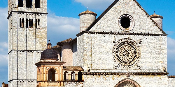Basilica di San Francesco d'Assisi, Assisi, Perugia, Italy.