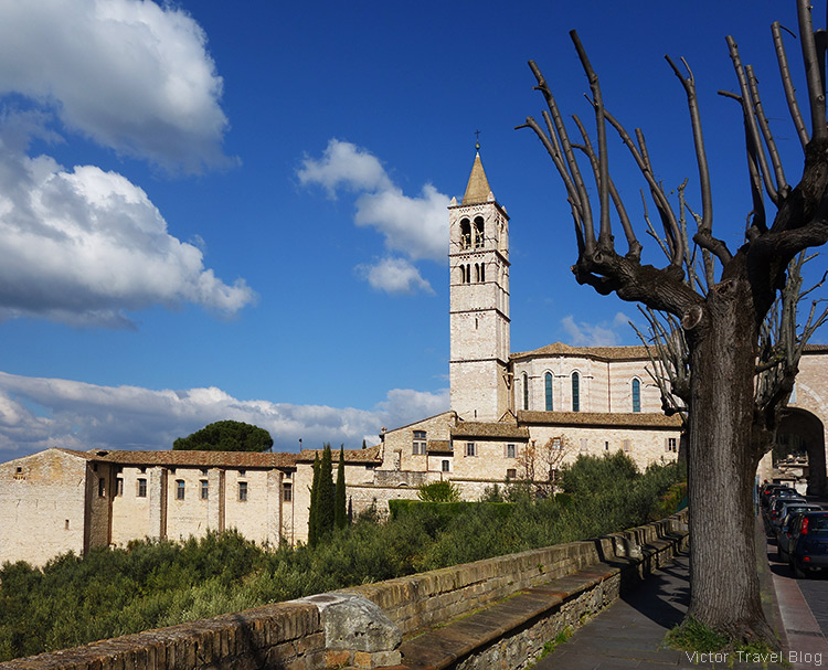 The Basilica di S. Chiara. Assisi, Perugia, Italy.