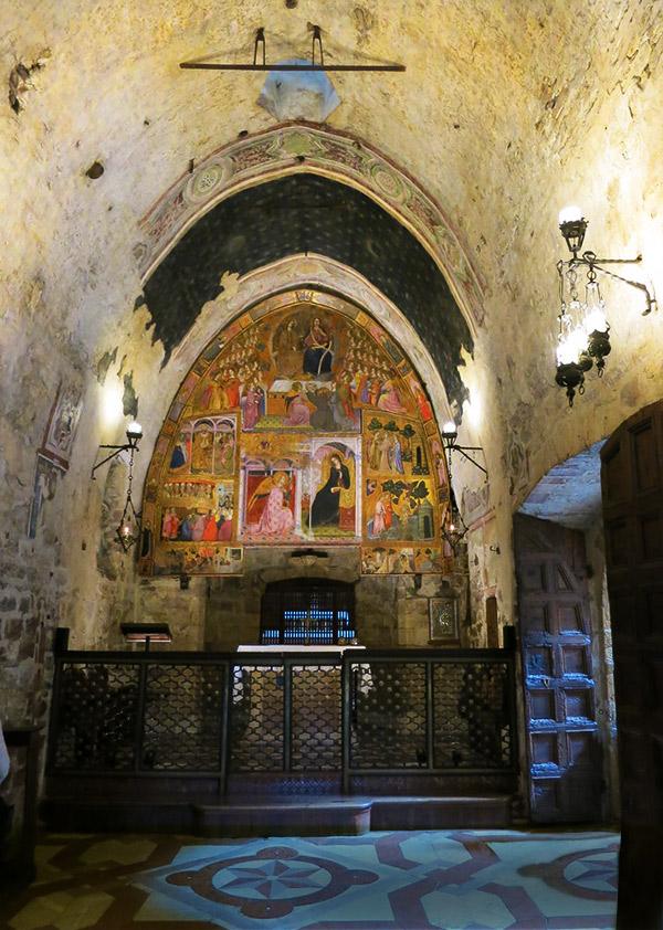 The Porziuncola in the Basilica di Santa Maria degli Angeli, Assisi, Perugia, Italy.