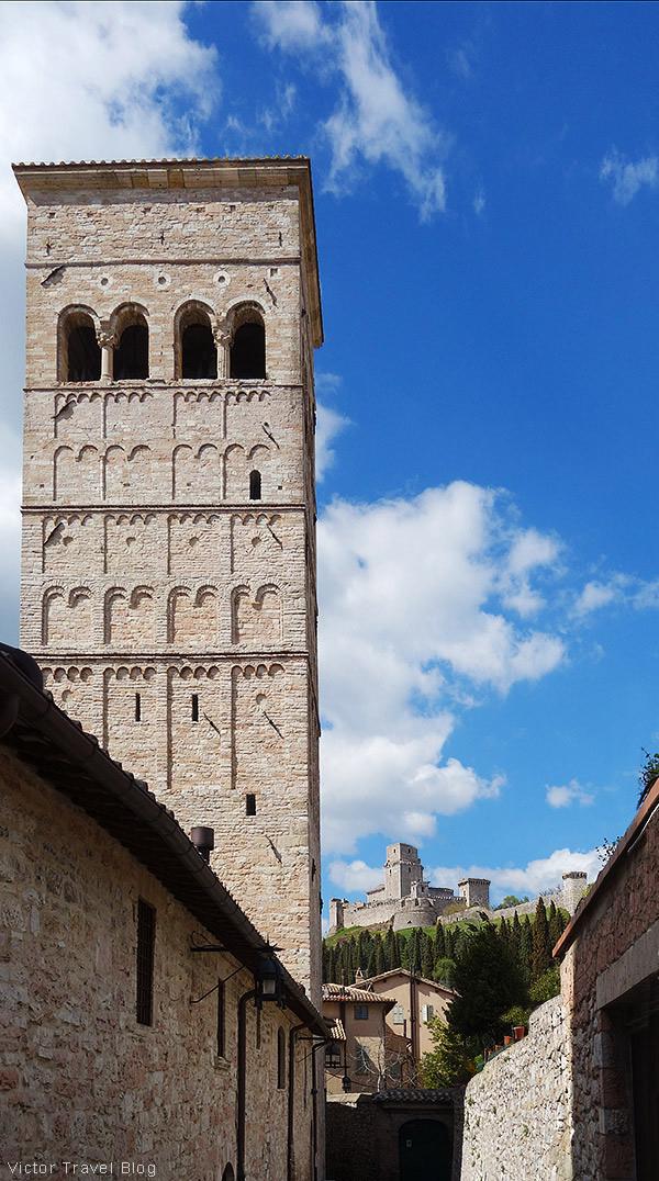 The Rocca Maggiore. Assisi, Perugia, Italy.