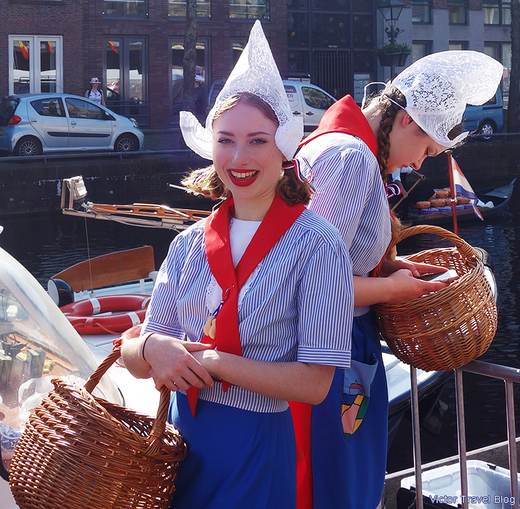 On the cheese market in Alkmaar, the Netherlands.