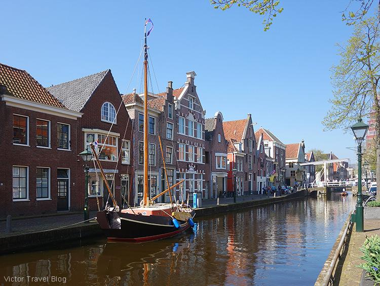 Streets of Alkmaar, the Netherlands.