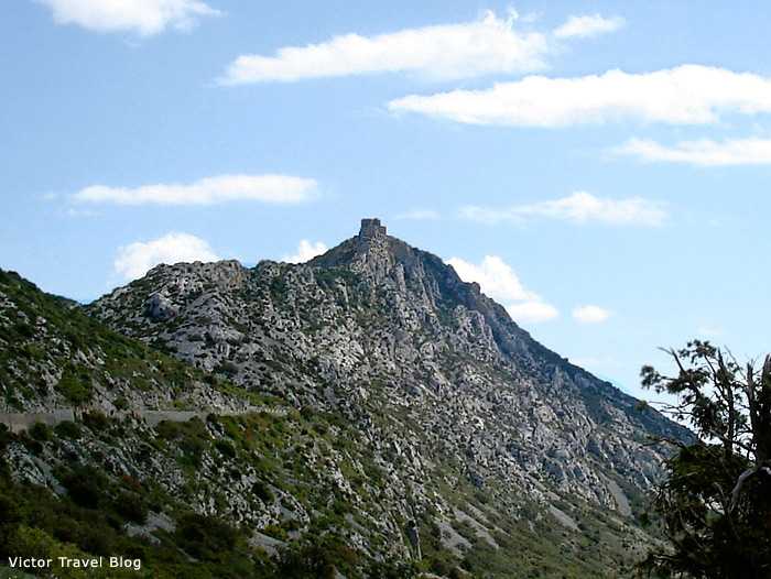 Queribus, one of Cathar Castles of France.