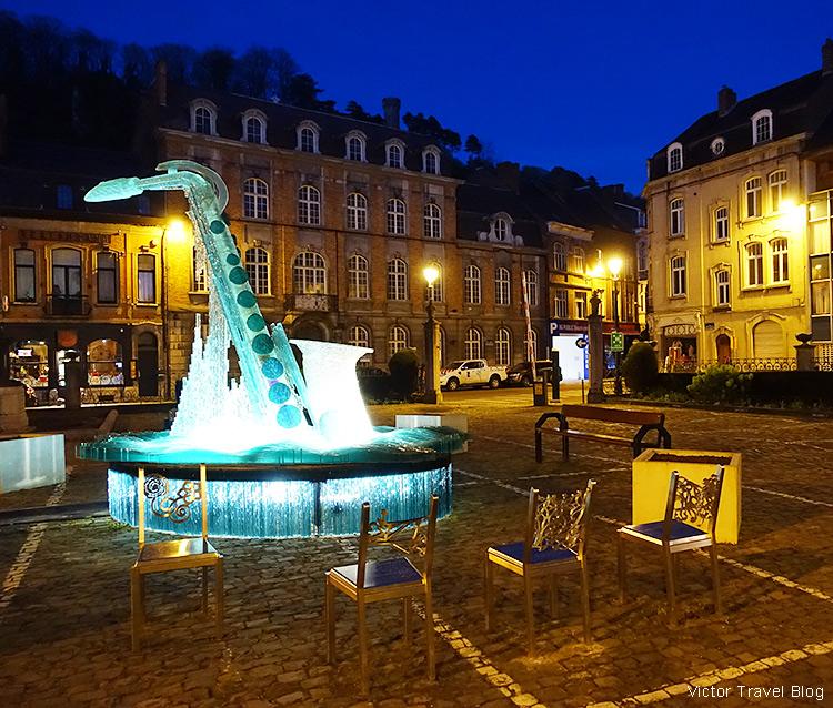 City Government Square, Dinant, Wallonia, Belgium.