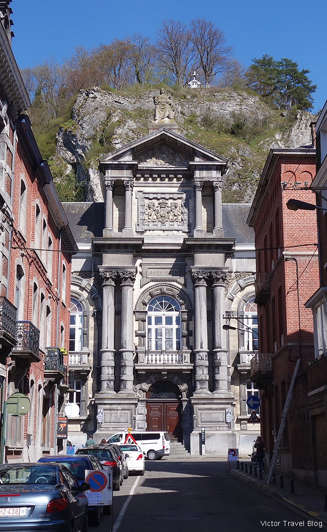 You may think this is a church. No. This is the Palace of Justice of Dinant, Belgium.