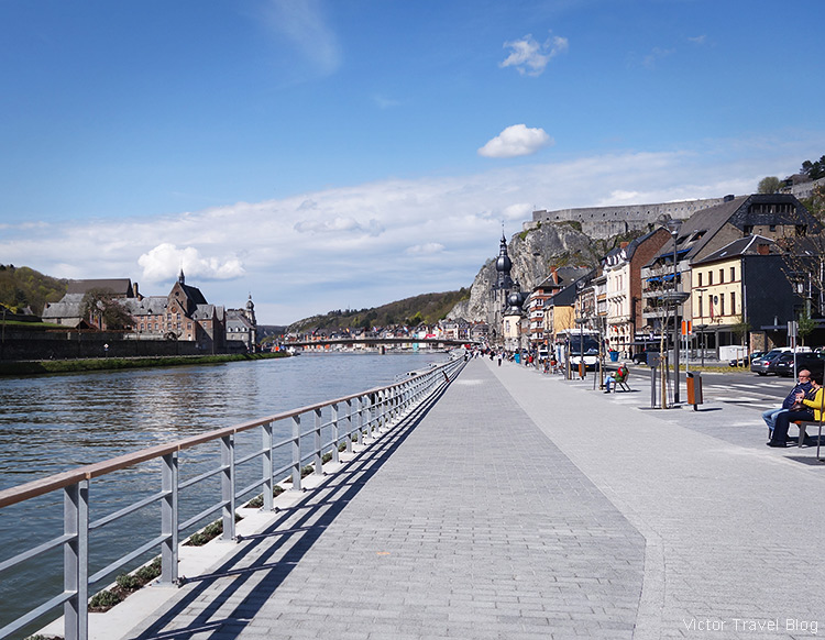 The promenade of Dinant, Belgium.