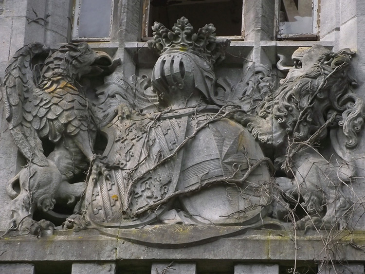 A coat of arms, Miranda Castle, Belgium.