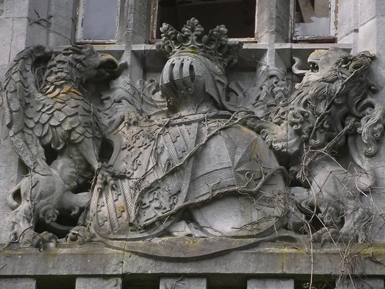 A coat of arms, Miranda Castle, Belgium.