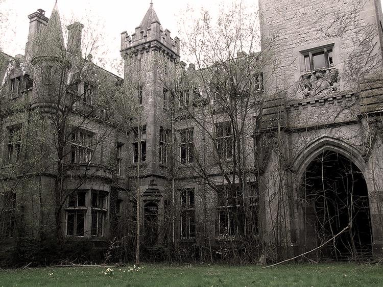 Ruins of Miranda Castle, Belgium.